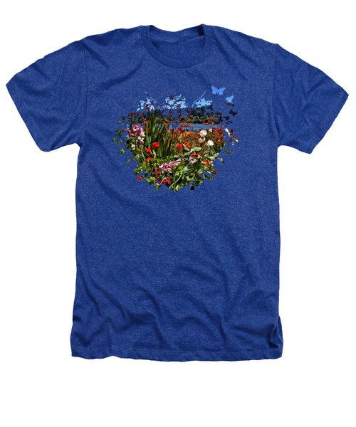 Siuslaw River Floral Heathers T-Shirt by Thom Zehrfeld