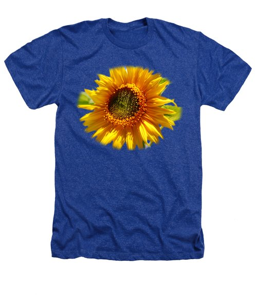 Sunny Sunflower Square Heathers T-Shirt by Christina Rollo