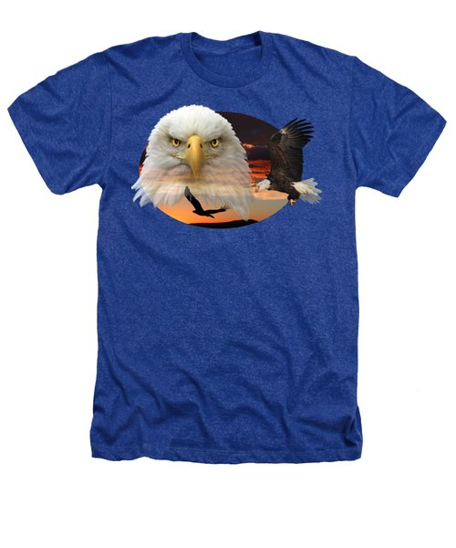 The Bald Eagle 2 Heathers T-Shirt by Shane Bechler