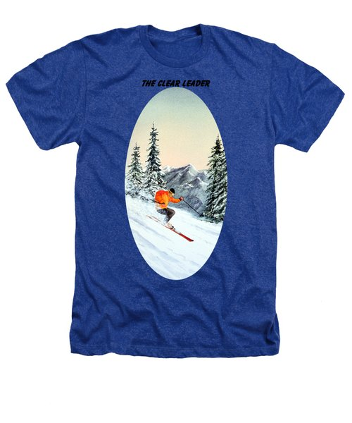 The Clear Leader Skiing Heathers T-Shirt by Bill Holkham