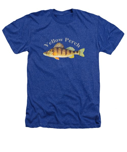 Yellow Perch Fish By Dehner Heathers T-Shirt by T Shirts R Us -