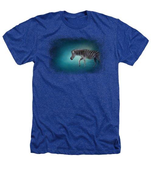 Zebra In The Moonlight Heathers T-Shirt by Jai Johnson