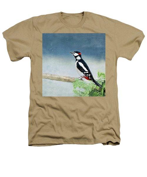 Woodpecker Heathers T-Shirt by Heike Hultsch