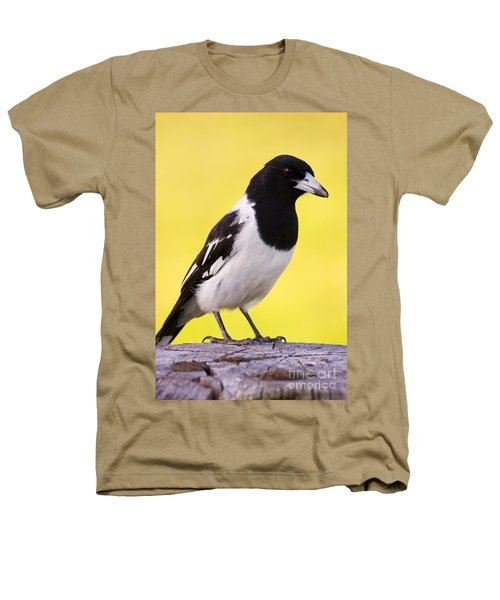 Fencepost Magpie Heathers T-Shirt by Jorgo Photography - Wall Art Gallery