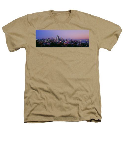 High Angle View Of A City At Sunrise Heathers T-Shirt by Panoramic Images