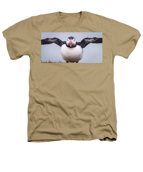 Atlantic Puffin Fratercula Arctica Heathers T-Shirt by Panoramic Images
