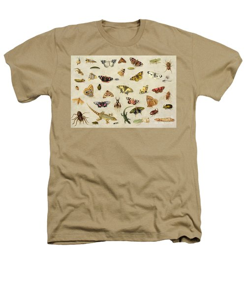A Study Of Insects Heathers T-Shirt by Jan Van Kessel