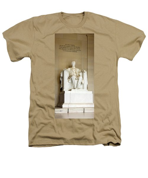 Abraham Lincolns Statue In A Memorial Heathers T-Shirt by Panoramic Images