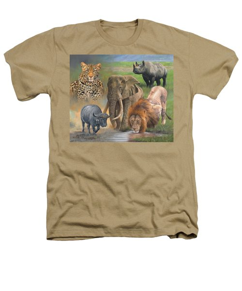 Africa's Big Five Heathers T-Shirt by David Stribbling