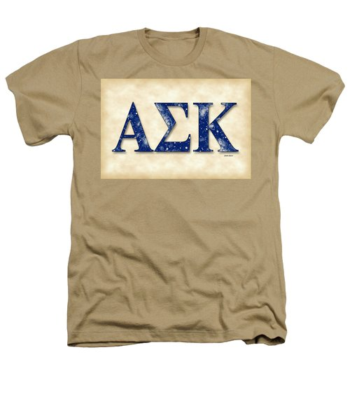 Alpha Sigma Kappa - Parchment Heathers T-Shirt by Stephen Younts