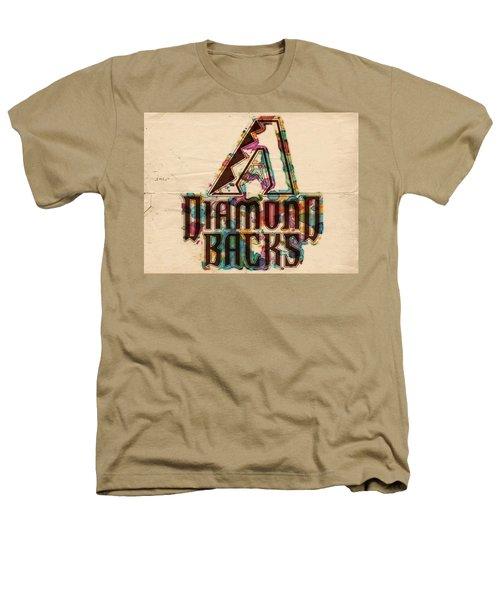 Arizona Diamondbacks Poster Vintage Heathers T-Shirt by Florian Rodarte
