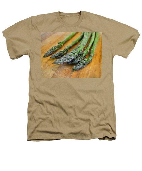 Asparagus Heathers T-Shirt by Michelle Calkins