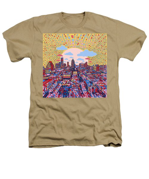 Austin Texas Abstract Panorama 2 Heathers T-Shirt by Bekim Art