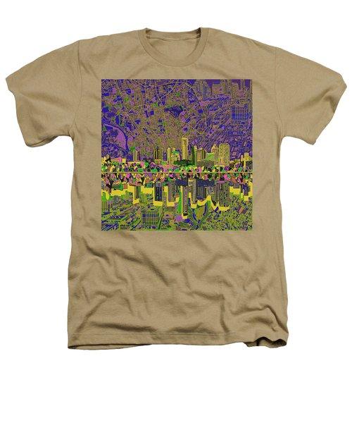 Austin Texas Skyline Heathers T-Shirt by Bekim Art