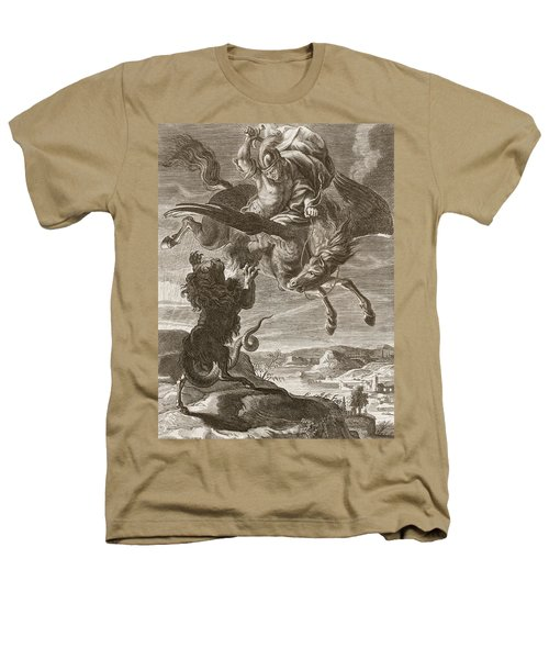 Bellerophon Fights The Chimaera, 1731 Heathers T-Shirt by Bernard Picart