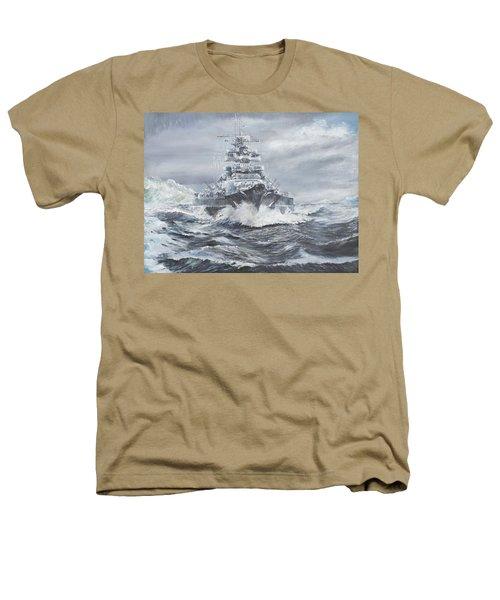 Bismarck Off Greenland Coast  Heathers T-Shirt by Vincent Alexander Booth
