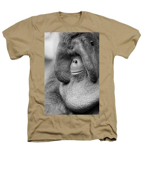 Bornean Orangutan V Heathers T-Shirt by Lourry Legarde