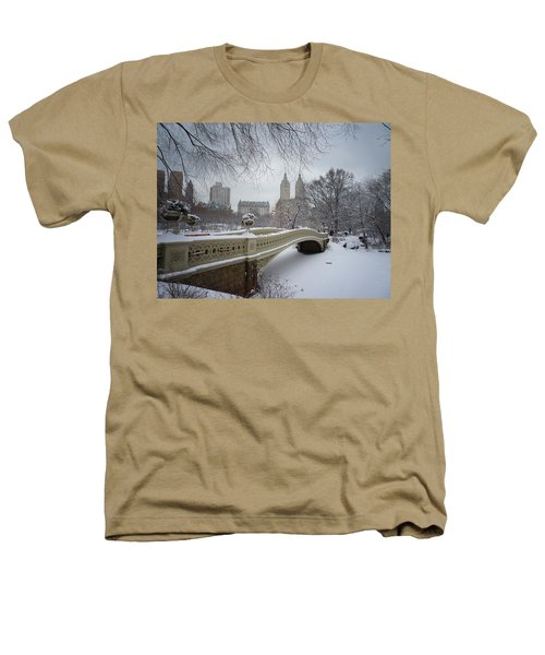 Bow Bridge Central Park In Winter  Heathers T-Shirt by Vivienne Gucwa