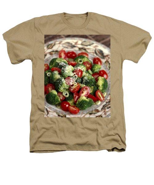 Broccoli And Tomato Salad Heathers T-Shirt by Iris Richardson