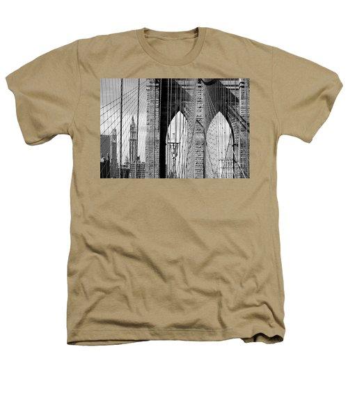 Brooklyn Bridge New York City Usa Heathers T-Shirt by Sabine Jacobs