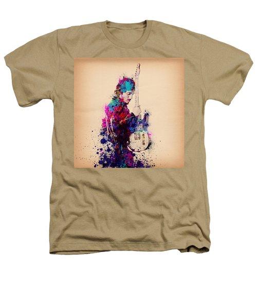 Bruce Springsteen Splats And Guitar Heathers T-Shirt by Bekim Art