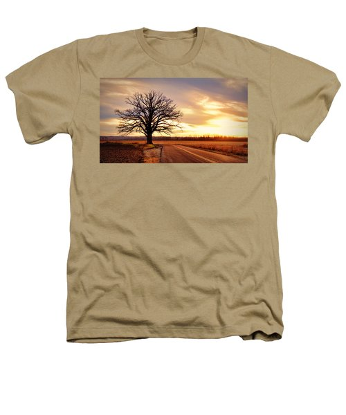 Burr Oak Silhouette Heathers T-Shirt by Cricket Hackmann