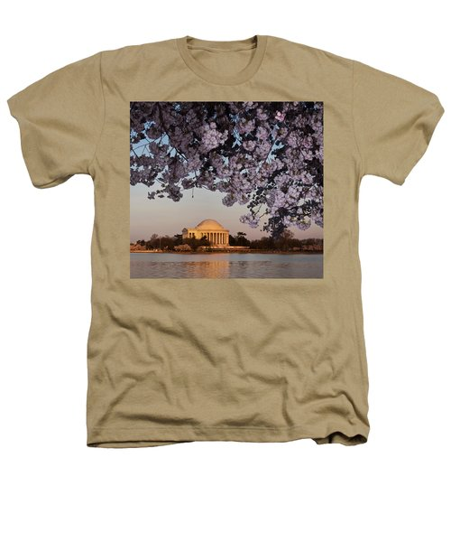 Cherry Blossom Tree With A Memorial Heathers T-Shirt by Panoramic Images