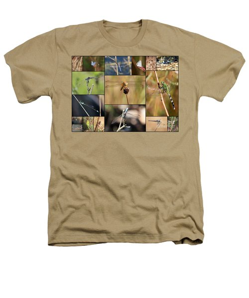 Collage Marsh Life Heathers T-Shirt by Carol Groenen
