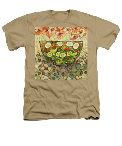 Cool Summer Salad Heathers T-Shirt by Jen Norton