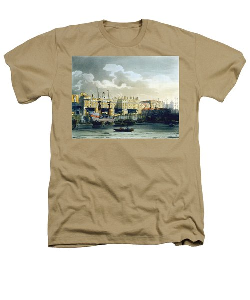 Custom House From The River Thames Heathers T-Shirt by T. & Pugin, A.C. Rowlandson