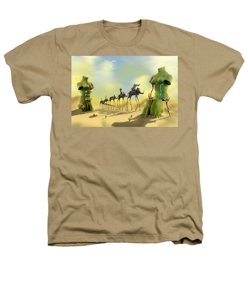 Dali On The Move  Heathers T-Shirt by Mike McGlothlen