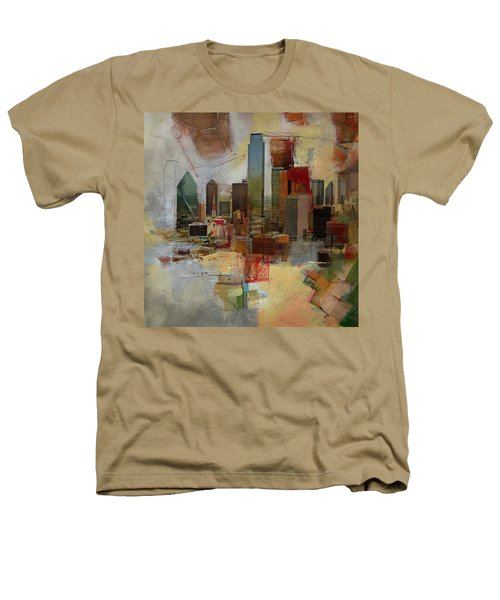 Dallas Skyline 003 Heathers T-Shirt by Corporate Art Task Force