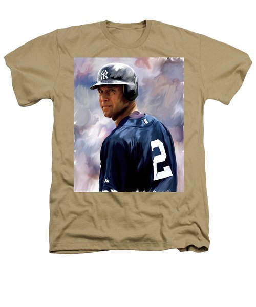 Derek Jeter  Heathers T-Shirt by Iconic Images Art Gallery David Pucciarelli