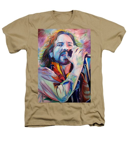 Eddie Vedder In Pink And Blue Heathers T-Shirt by Joshua Morton