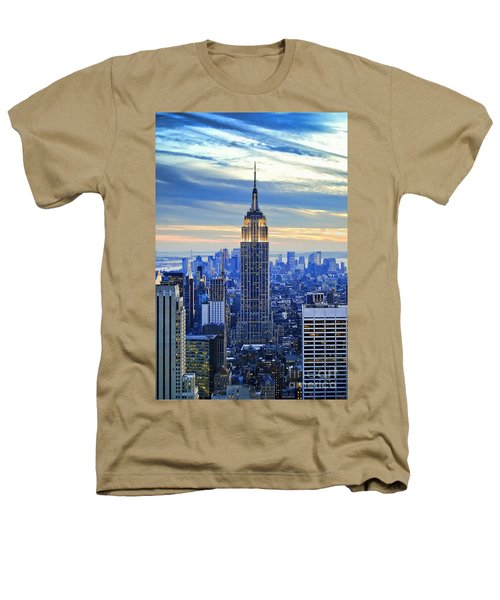 Empire State Building New York City Usa Heathers T-Shirt by Sabine Jacobs
