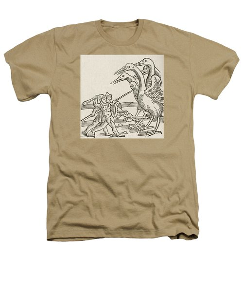 Fight Between Pygmies And Cranes. A Story From Greek Mythology Heathers T-Shirt by English School