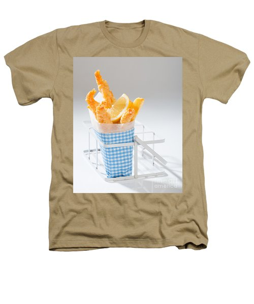 Fish And Chips Heathers T-Shirt by Amanda Elwell