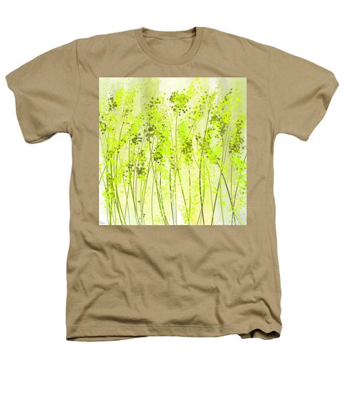 Green Abstract Art Heathers T-Shirt by Lourry Legarde