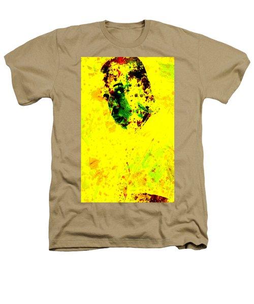 Jay Z Paint Splash Heathers T-Shirt by Brian Reaves