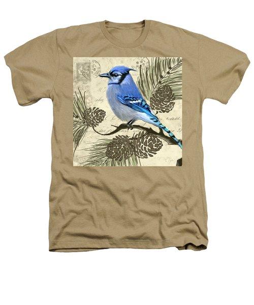 Jeweled Blue Heathers T-Shirt by Lourry Legarde