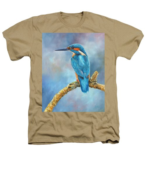 Kingfisher Heathers T-Shirt by David Stribbling