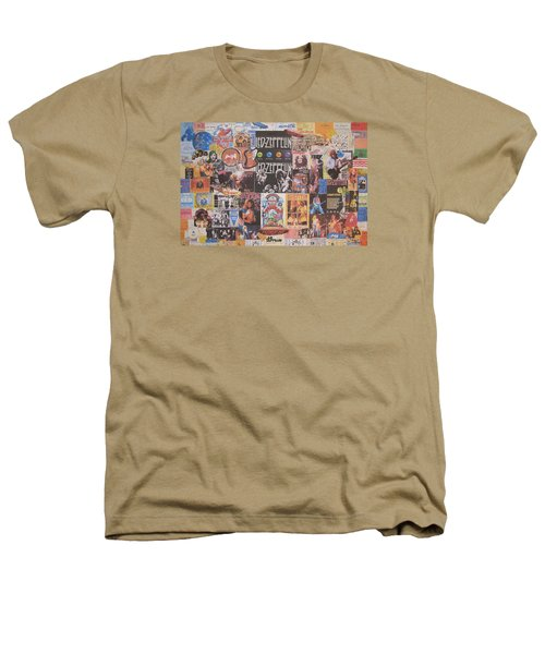 Led Zeppelin Years Collage Heathers T-Shirt by Donna Wilson