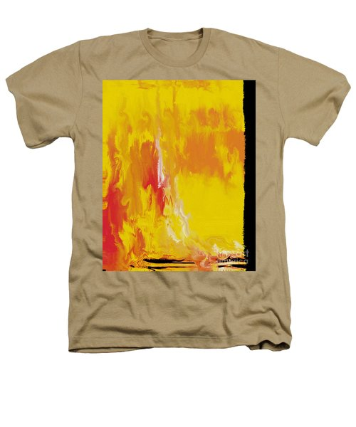 Lemon Yellow Sun Heathers T-Shirt by Roz Abellera Art