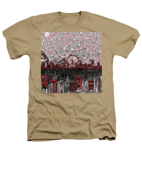 London Skyline Abstract 6 Heathers T-Shirt by Bekim Art