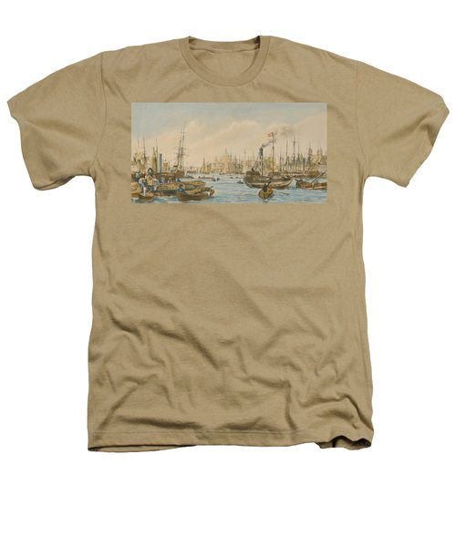Looking Towards London Bridge Heathers T-Shirt by William Parrot