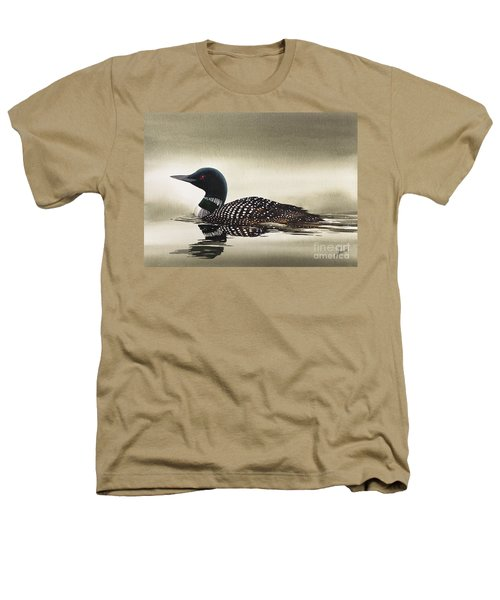 Loon In Still Waters Heathers T-Shirt by James Williamson