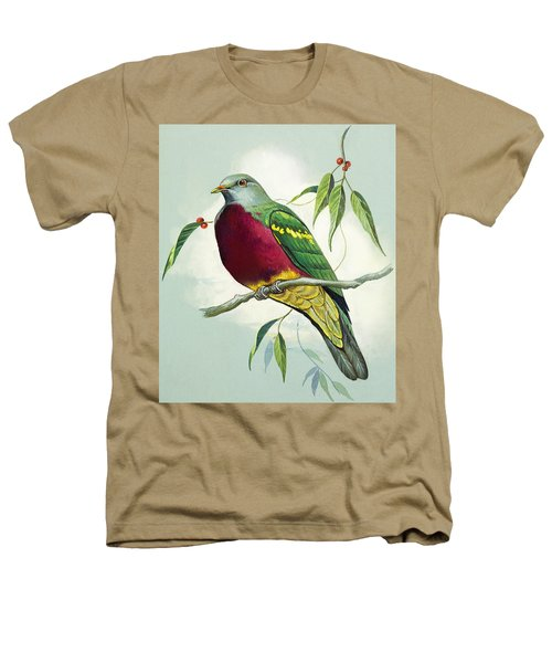 Magnificent Fruit Pigeon Heathers T-Shirt by Bert Illoss