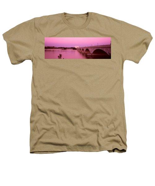 Memorial Bridge, Washington Dc Heathers T-Shirt by Panoramic Images