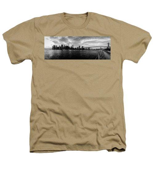 New York Skyline Heathers T-Shirt by Nicklas Gustafsson
