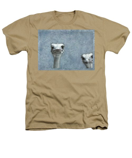 Ostriches Heathers T-Shirt by James W Johnson